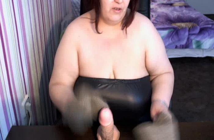 Ebony Solo Dildo Orgasm